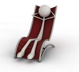 Eines unserer 3D-Männchen im Liegestuhl